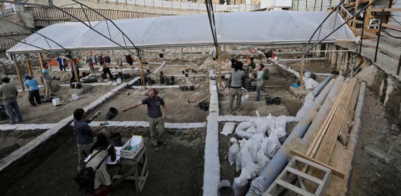 """חפירות בעיר דוד שמנוהלות על ידי אלע""""ד/  /צילום: רויטרס Ammar Awad"""