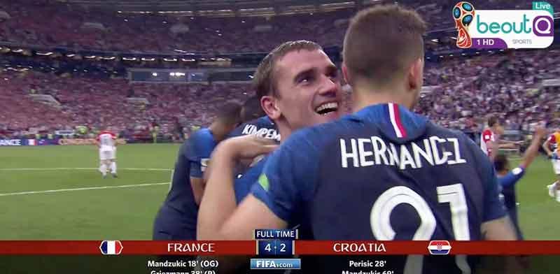גמר גביע העולם בכדורגל.  beoutQ הערוץ הפיראטי beoutQ / צילום:HANDOUT  רויטרס