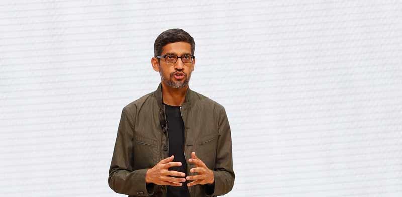 """מנכ""""ל גוגל, סונדאר פיצ'אי / צילום: רויטרס, STEPHEN LAM"""