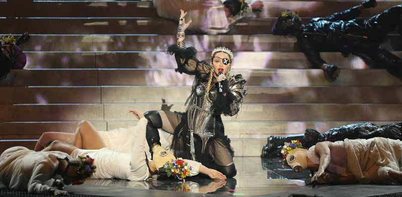 Madonna at Eurovision Photo: Reuters
