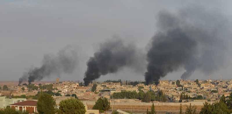 ההפצצות הטורקיות בסוריה./ צילום: רויטרס