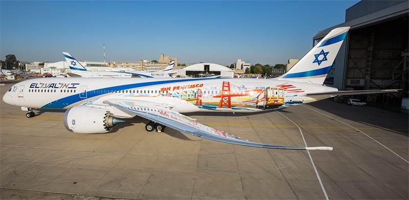 מטוס הדרימליינר המאויר של אל על / צילום: יוחאי מוסי, בר סטפנסקי