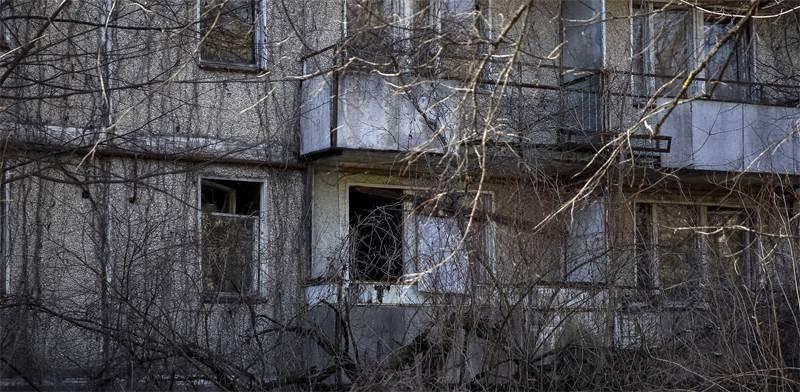 בניין נטוש בעיירה פריפיאט, ליד צ'רנוביל / צילום: Gleb Garanich, רויטרס