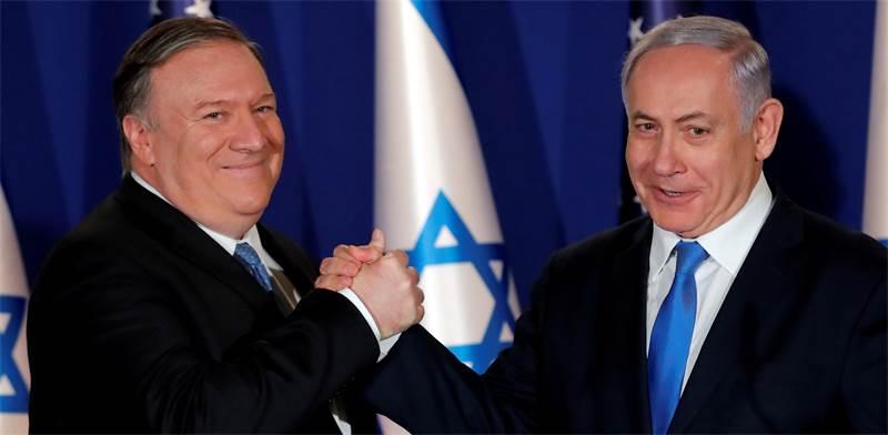 ראש הממשלה בנימין נתניהו ושר החוץ האמריקאי מייק פומפיאו / צילום: ג'ים יאנג, רויטרס
