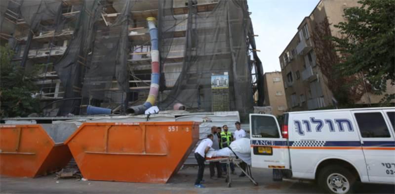 """תאונת העבודה בקז""""ן 10 ברעננה / צילום: אלון רון, גלובס"""