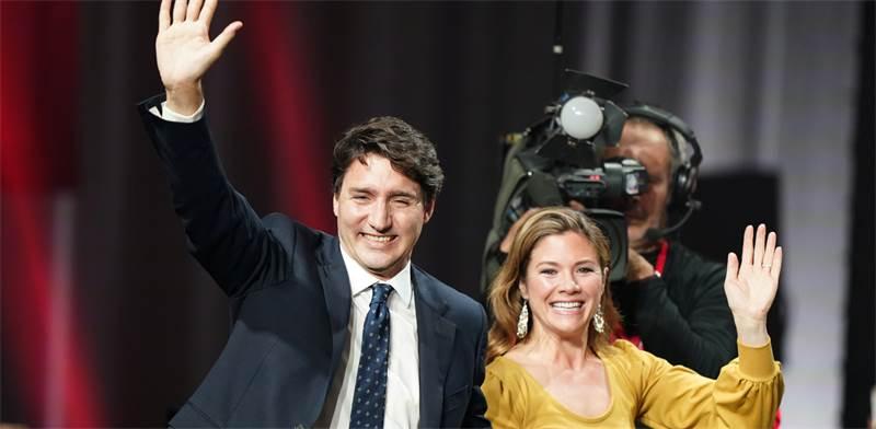 ראש ממשלת קנדה ג'סטין טרודו ואשתו סופי / צילום: Carlo Allegri, רויטרס