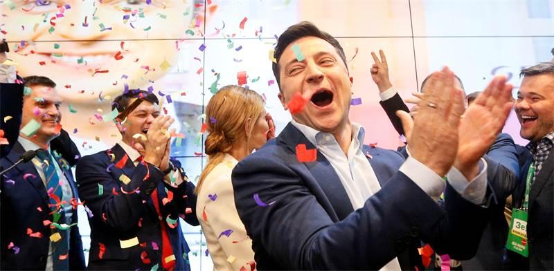 חגיגות הניצחון של נשיא אוקראינה החדש וולודימיר זלנסקי / צילום: Valentyn Ogirenko, רויטרס
