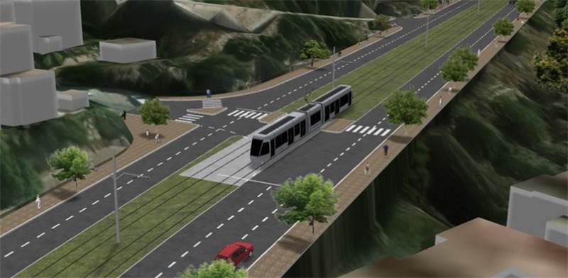 Haifa-Nazareth light rail Photo: Transport Ministry