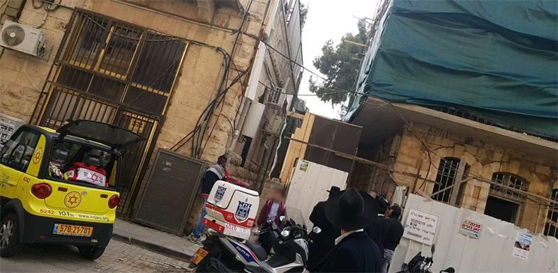 """אתר התאונה בירושלים / צילום: מד""""א"""