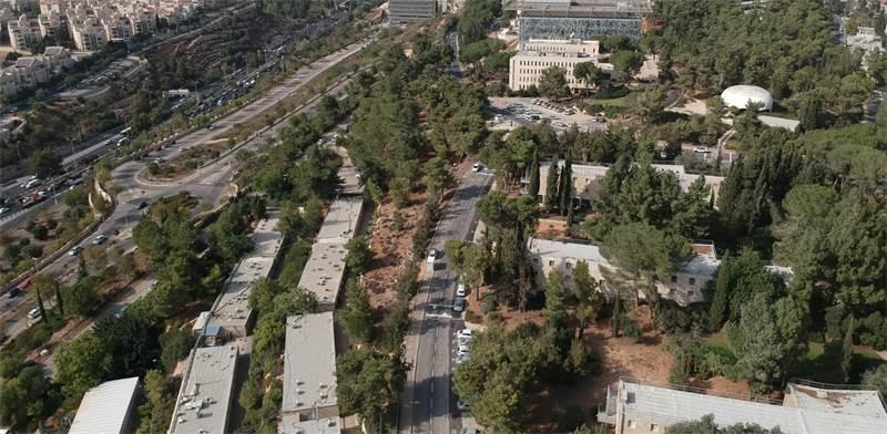 """האזור בקמפוס האוניברסיטה העברית שבו יוקם פארק ההייטק / צילום: יח""""צ"""