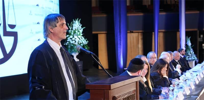 """עו""""ד אבי חימי בטקס הסמכת עורכי הדין החדשים / צילום: יוסי זמיר"""