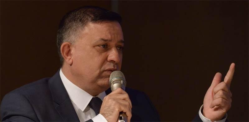 """יו""""ר מפלגת העבודה, אבי גבאי, בוועידת ישראל לנדל""""ן / צילום: איל יצהר"""