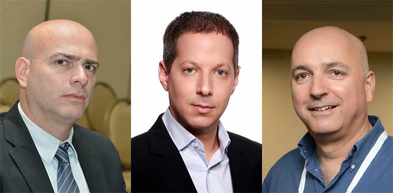 """אילן רביב, דייב לובצקי ורמי דרור / צילום: איל יצהר, יח""""צ, תמר מצפי"""