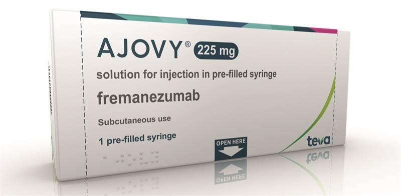 """התרופה Ajovy של טבע / צילום: יח""""צ"""