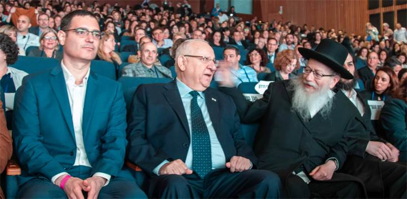 ליצמן, ריבלין ובר סימן טוב בכנס של משרד הבריאות / צילום: משרד הבריאות