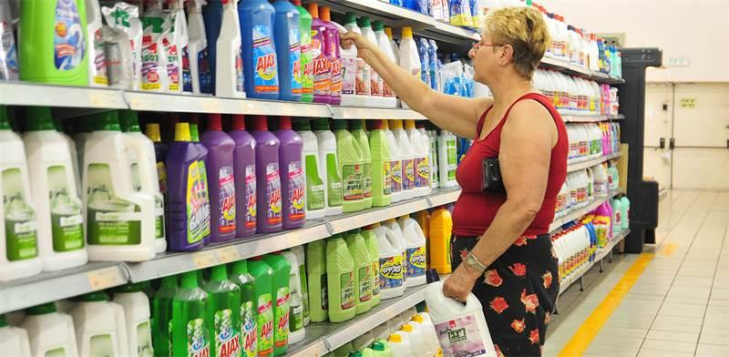 חומרי ניקוי בסופרמרקט / צילום: תמר מצפי