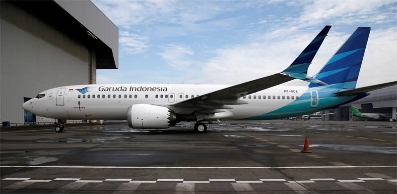 מטוס של גארודה אינדונזיה מדגם בואינג 737 מקס 8 / צילום: Willy Kurniawan, רויטרס
