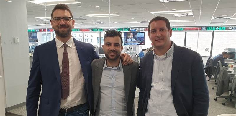 השותפים מימין לשמאל: נדב סלוצקי, ג'ואי וינשמן ואלי דסטניק / צילום: טל מאיה הרפז