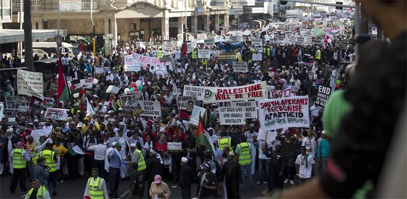 הפגנה בדרום אפריקה נגד מדיניות ישראל / צילום: רויטרס