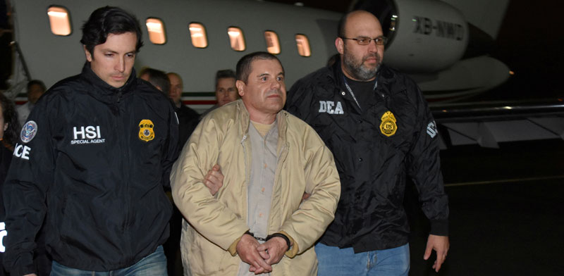 אל צ'אפו מוסגר לארצות הברית / צילום: רויטרס