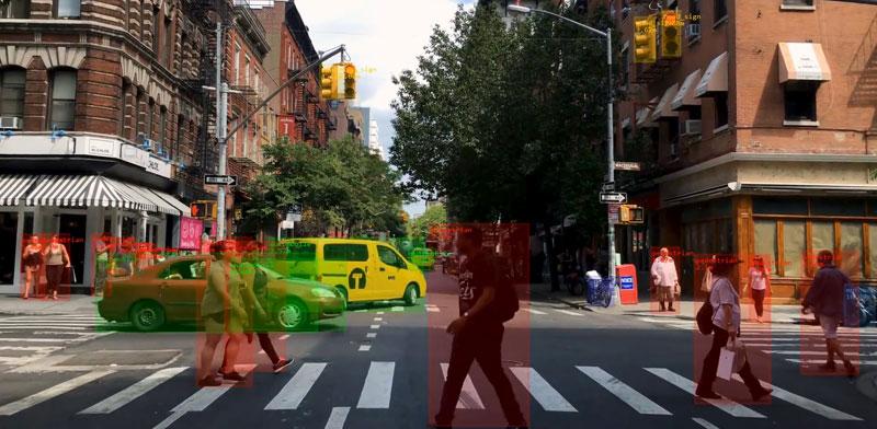 """קריאת סביבת הרכב נעזרת בבינה מלאכותית / צילום: יח""""צ Cortica"""