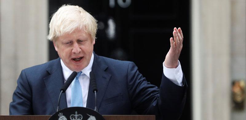 ראש ממשלת בריטניה, בוריס ג'ונסון / צילום: רויטרס, SIMON DAWSON