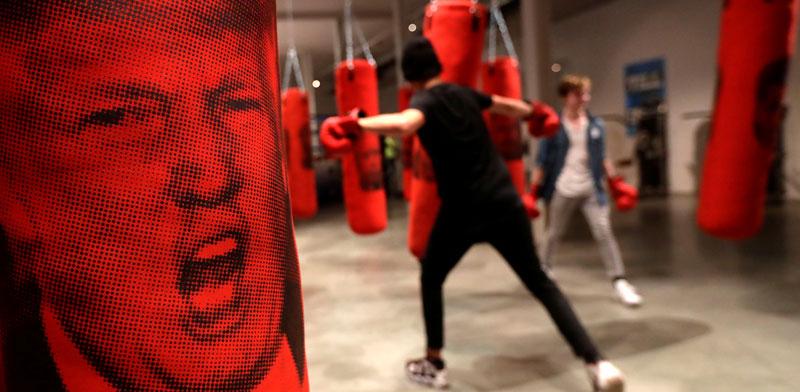 דמותו של טראמפ בסטודיו בפראג/ צילום: רויטרס David W Cerny