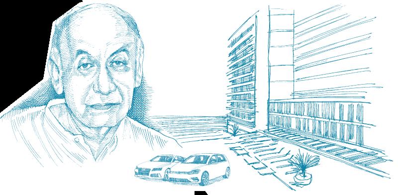 פרופסור יצחק סוארי / איור: גיל ג'יבלי
