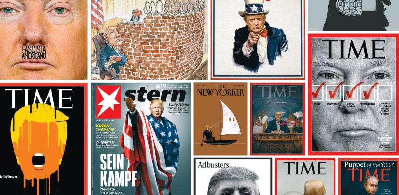 טראמפ על שערי המגזינים המשפיעים בעולם