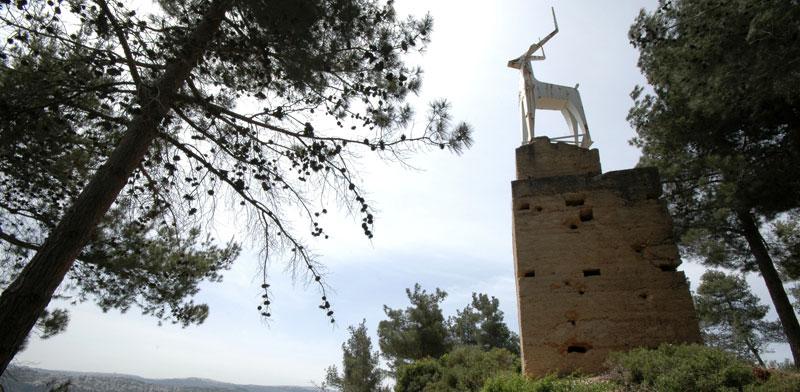 אנדרטת הצבי הבודד מעל קריית ענבים / צילום: יותם יעקובסון