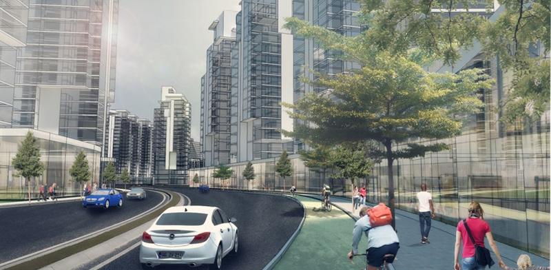 קריית משה ברחובות / הדמיה: משרד בר לוי אדריכלים ומתכנני ערים