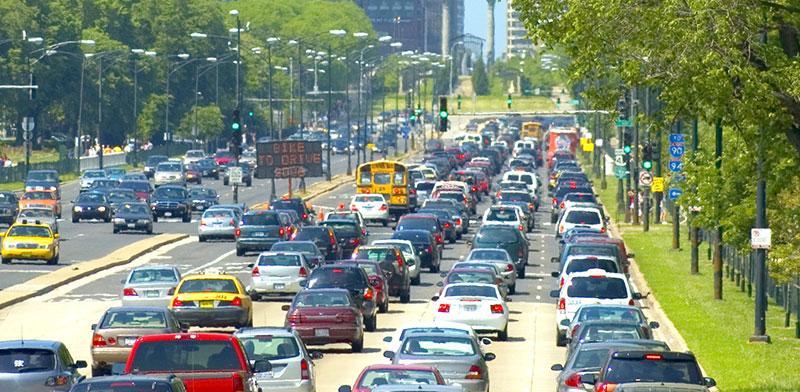 פקק תנועה בשיקגו / צילום: shutterstock, שאטרסטוק