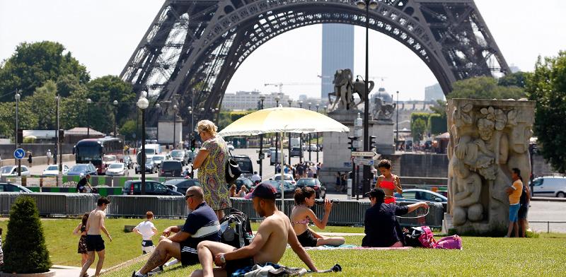 גל החום האחרון בפריז / צילום: Charles Platiau, רויטרס