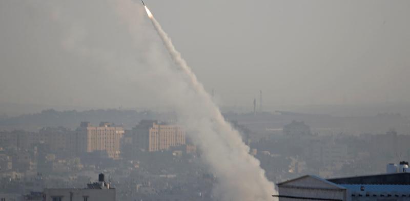 ירי רקטות לעבר מישראל לאחר חיסולו של בהאא אבו אל-עטא / צילום: רויטרס