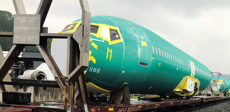 גוף מטוס שנשלח ממפעלי ספיריט / צילום: רויטרס
