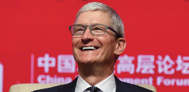 """טים קוק, מנכ""""ל אפל / צילום: Che liang, רויטרס"""