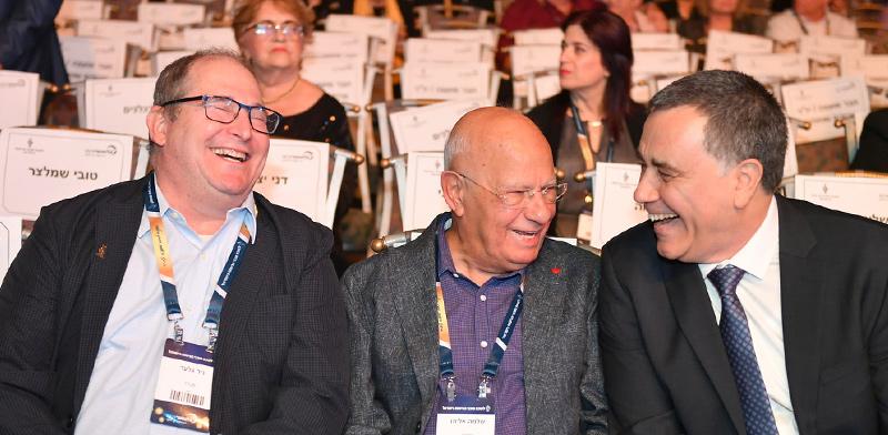 ישראל גרטי, שלמה אליהו וניר גלעד בכנס לשכת סוכני הביטוח באילת / צילום: יוד צילומים אילת