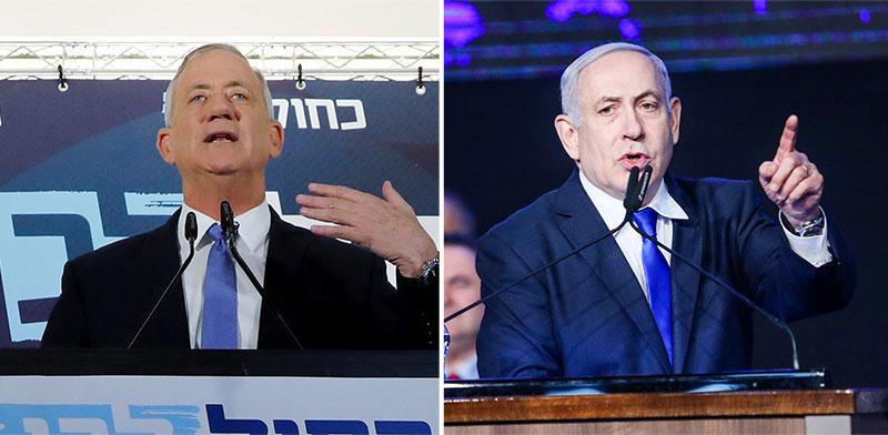 נתניהו השבוע בכנס הליכוד וגנץ מחזיר את המנדט לנשיא / צילומים: שלומי יוסף, רויטרס