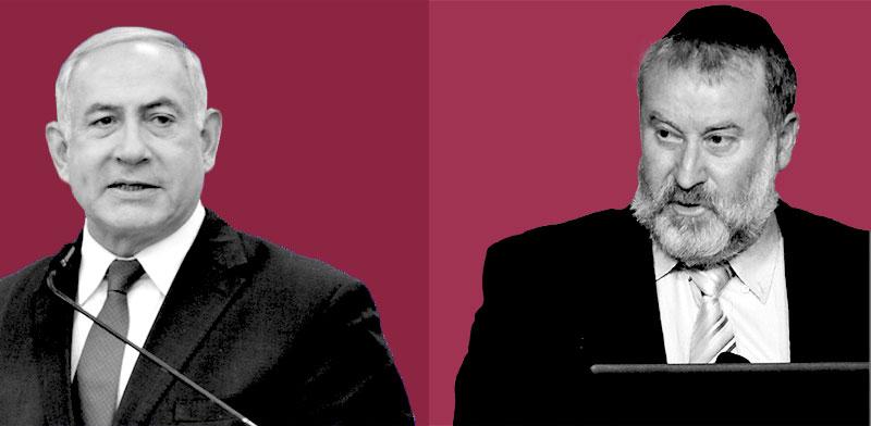 """היועמ""""ש אביחי מנדלבליט וראש הממשלה בנימין נתניהו / צילומים: איל יצהר, תמר מצפי, עיבוד תמונה: טלי בוגדנובסקי"""