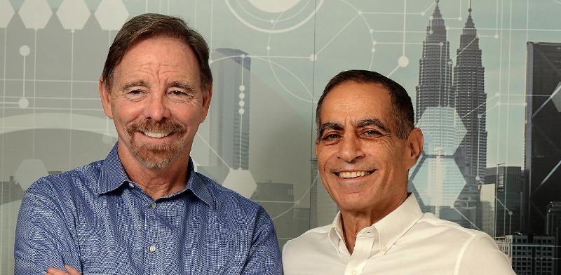 David Mahlab and Chris Wolfe / Photo: Eyal Izhar, Globes