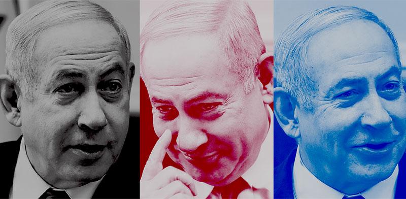 """ראש הממשלה בנימין נתניהו / צילום: מארק ישראל סלם, """"ג'רוזלם פוסט""""; עיצוב: טלי בוגדנובסקי"""