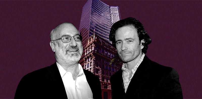 """יעקב שימל, אדוארדו אלשטיין ובניין HSBC בניו יורק / צילומים: מצגת החברה, תמר מצפי, יח""""צ; עיבוד תמונה: טלי בוגדנובסקי"""