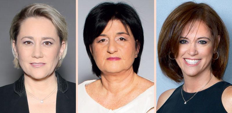 """מנכ""""ליות הבנקים: רקפת רוסק עמינח, לילך אשר טופילסקי וסמדר ברבר צדיק / צילומים: רון קדמי, רמי זרנגר"""