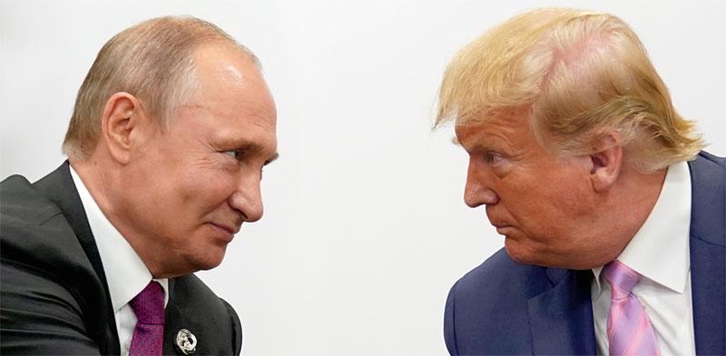 טראמפ ופוטין / צילום: רויטרס - Kevin Lamarque