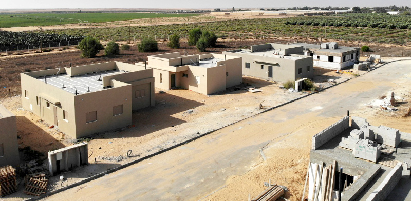 New housing in Avshalom near the Gaza border / Photo: Company for Promoting Expansion Projects