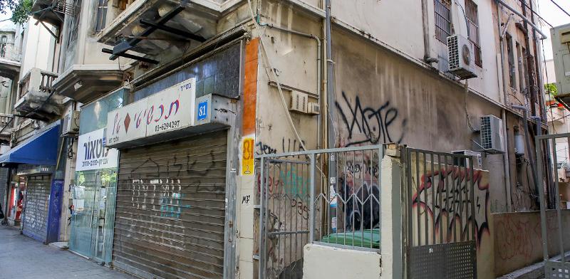 הבניין ברחוב אלנבי 81 שבעתיד ייבנה על חורבותיו מלון בוטיק יוקרתי / צילום: כדיה לוי