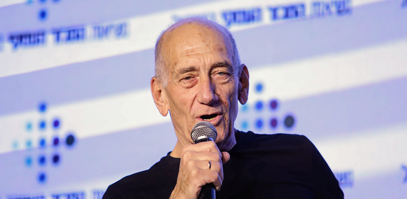 Ehud Olmert Photo: Shlomi Yosef