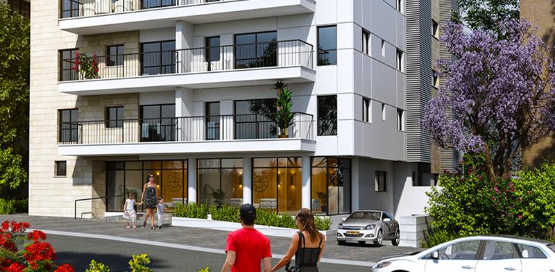 """רחוב קק""""ל, בניין 27א, בשכונת בורוכוב בגבעתיים / הדמיה: יח""""צ"""