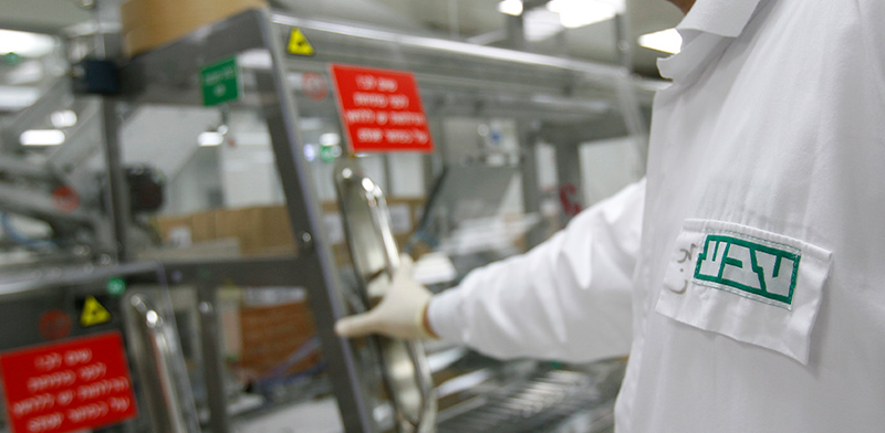 עובד במפעל טבע / צילום: רויטרס, Ronen Zvulun