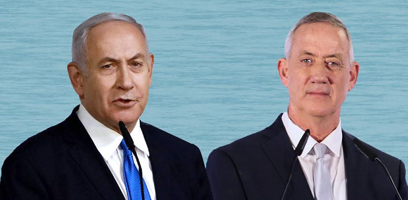 Benjamion Netanyahu and Benny Gantz